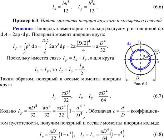 Момент инерции сечения 2